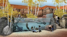 A digital rendering for the Discover Utah exhibit inside The Loveland Living Planet Aquarium. Courtesy: The LIving Planet Aquarium