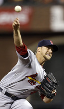St. Louis Cardinals relief pitcher Trevor Rosenthal throws during the fifth inning of Game 7 of baseball's National League championship series against the San Francisco Giants Monday, Oct. 22, 2012, in San Francisco. (AP Photo/Ben Margot)