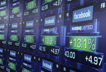 (AP Photo/Richard Drew, File) Facebook made its public debut on May 18 with a valuation of over $100 billion, or more than 100 times its annual earnings at the time. At that price, it was more expensive than 99 percent of all Standard & Poor's 500 Index companies, Bloomberg calculated.