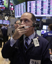 (AP Photo/Richard Drew) The Standard & Poor's 500 index shed 20.71 points Tuesday, to 1,413.11, and the Nasdaq composite index lost 26.50 points, to 2,990.46. The Nasdaq hadn't closed below 3,000 since Aug. 6.