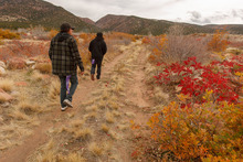 Trent Nelson  |  The Salt Lake Tribune Charlie Lafferty and Greg Anderson walk to at the spot they believe Corey Kanosh's body ended up after he was shot by a Millard County deputy following a high-speed chase. The family of Corey Kanosh held a press conference Tuesday, Oct. 23, 2012 in Kanosh, Utah, seeking answers in Kanosh's death. Lafferty is Kanosh's cousin and Anderson is Kanosh's brother.