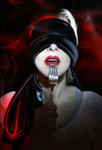 Photo illustration by Francisco Kjolseth  |  The Salt Lake Tribune To illustrate Black Out diners at the Tin Angel Cafe. This is part of a national trend where restaurants blindfold guests for all or part of their meal. Doing away with one of your senses actually magnifies the flavors of the food and creates a unique dining experience.