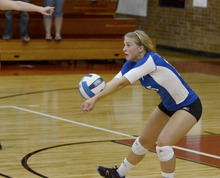 Jaclyn Condie is a member of the Salt Lake Community College volleyball team. Courtesy David Hubert