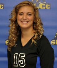 Courtesy Lisa Peshell Jaclyn Condie is a member of the Salt Lake Community College volleyball team.