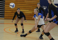 Courtesy David Hubert Jaclyn Condie is a member of the Salt Lake Community College volleyball team.