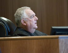 Paul Fraughton | The Salt Lake Tribune Judge Donald Eyre pronounces sentence on Roberto Roman who was acquitted for the murder of Millard County Deputy Josie Fox, but was found guilty of tampering with evidence and possession of a dangerous weapon by a restricted person.  Wednesday, October 24, 2012