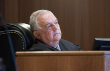 Paul Fraughton | The Salt Lake Tribune Judge Donald Eyre listens to attorney's before sentencing Roberto Roman. Roman was acquitted of the murder of Millard County Deputy Josie Fox, but was found guilty of tampering with evidence and possession of a dangerous weapon by a restricted person.  Wednesday, October 24, 2012