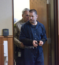 Paul Fraughton | the Salt Lake Tribune Roberto Roman is lead into the courtroom of Judge Donald Eyre for his sentencing. Roman was acquitted of the murder of Millard County Deputy Josie Fox, but was found guilty of tampering with evidence and possession of a dangerous weapon by a restricted person.  Wednesday, October 24, 2012