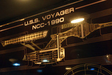 Chris Detrick  |  The Salt Lake Tribune  This file photo shows a schematic of U.S.S. Voyager NCC-1990  at the Christa McAuliffe Space Education Center.