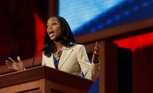 Trent Nelson  |  The Salt Lake Tribune Utah congressional candidate Mia Love decried President Barack Obama for dividing Americans, asserting he is trying to pit people against one another based on income, gender and social status.
