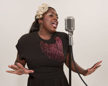 Dee-Dee Darby Duffin plays Billie Holiday in Pygmalion Theatre Company's production of