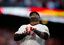 San Francisco Giants' Pablo Sandoval crosses the plate after a solo home run in the first inning against the Detroit Tigers duringGame 1 of baseball's World Series on Wednesday, Oct. 24, 2012, in San Francisco. (AP Photo/The Sacramento Bee, Jose Luis Villegas) MAGS OUT; TV OUT (KCRA3, KXTV10, KOVR13, KUVS19, KMAZ31, KTXL40) MANDATORY CREDIT