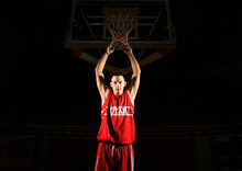 Leah Hogsten  |  The Salt Lake Tribune  University of Utah basketball team's Jason Washburn, Utah's big man hoping to make a difference this season, Tuesday, October 22, 2012.