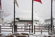 Snow hits the PayDay chairlift at Park City Mountain Resort the morning of Thursday, Oct. 25. Courtesy Park City Mountain Resort