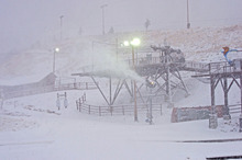 Snow hits the base area of Park City Mountain Resort the morning of Thursday, Oct. 25. Courtesy Park City Mountain Resort