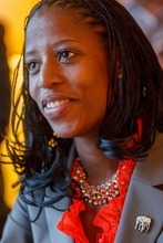 Trent Nelson  |  The Salt Lake Tribune Utah congressional candidate Mia Love, here answering questions at during the Republican National Convention in Tampa, Fla, is setting a blistering pace in fundraising.