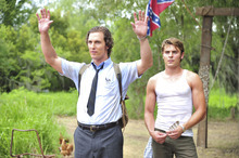 Matthew McConaughey (left) and Zac Efron play Ward and Jack Jansen, brothers investigating a murder case, in the drama