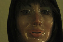 A stalker (Kate Lyn Sheil) appears in the episode