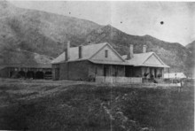 Col. Patrick Connor, who established Camp Douglas in the foothills of Salt Lake City on Oct. 26, 1862, was able to move his family there once his quarters and officer were completed. Photo courtesy of Fort Douglas Museum.