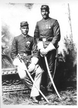 Privates James Satchell and Samuel Tipton were part of the 9th Cavalry. The Army 24th Infantry was the first African American regiment in Utah when it arrived at Fort Douglas in 1896. The mostly white Salt Lake Valley communities were not happy, and U.S. Sen. Frank Cannon unsuccessfully tried to get the Secretary of War to transfer them out of Utah. Photo courtesy of Fort Douglas Museum.