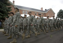 Tribune file photo Soldiers of the 96th Regional Readiness Command, which has since been shut down, march in October 2010 to the parade grounds at Fort Douglas.