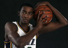 Scott Sommerdorf  |  The Salt Lake Tribune              As a rookie, Jeremy Evans became a fan favorite with his length and athleticism. In his second season, he became the NBA's slam dunk champion. That's all well and good. Evans, however, wants more.