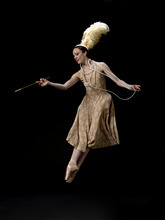 Ballet West's Kate Crews, photographed in costume as The Hostess in Bronislava Nijinska's ballet,