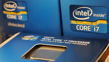 Demand for Intel chips inside computers -- which are much more profitable than those inside smartphones -- is plummeting.   (AP Photo/Charles Krupa)
