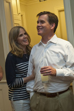 Chris Detrick  |  Tribune file photo Salt Lake County mayoral candidate Mark Crockett and his wife, Judy, are pictured in June.