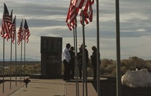 Leah Hogsten  |  The Salt Lake Tribune The memorial to 12 Army Rangers and Air Force special operations troops that perished in a helicopter crash just north of Antelope Island twenty years ago on Monday October 29, 1992. On Saturday October 27, 2012, their families, friends and those who helped with the rescue and recovery celebrated their memory with a rededication of a monument on Antelope Island. The crash of the Air Force MH-60G Pave Hawk helicopter, was the last chopper in a four-helicopter formation that was carrying Army and Air Force special operations troops from HAFB to the Army's Dugway Proving Ground as part of a training exercise.